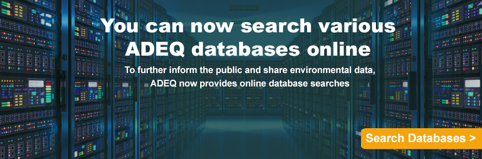 Search ADEQ Databases online