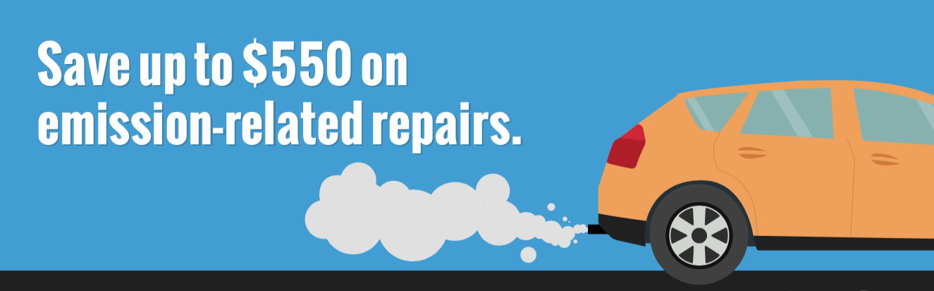 Slogan: Save up to $550 on emission-related repairs