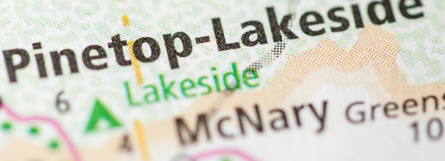 Pinetop-Lakeside, Arizona on a map
