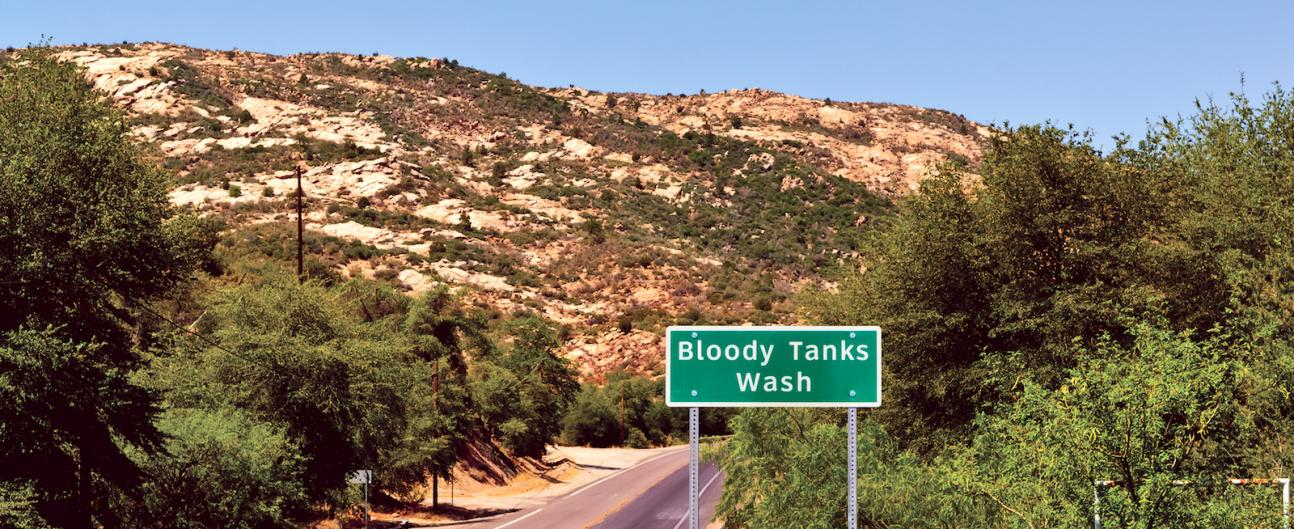 Bloody Tanks Wash at Pinal Creek Site Area