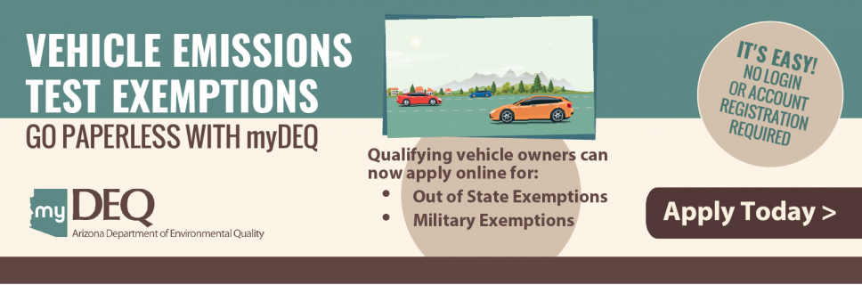 Military and Out-of-State Exemptions for Vehicle Emissions Tests Are Now Online