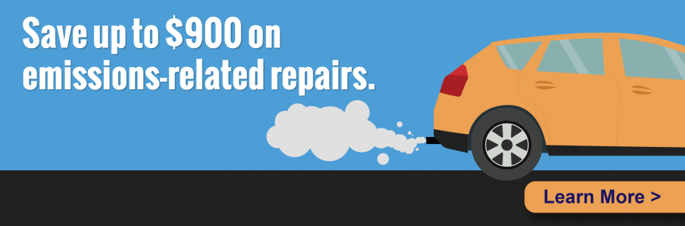 Save up to $900 on emissions-related repairs using the Voluntary Vehicle Repair Program